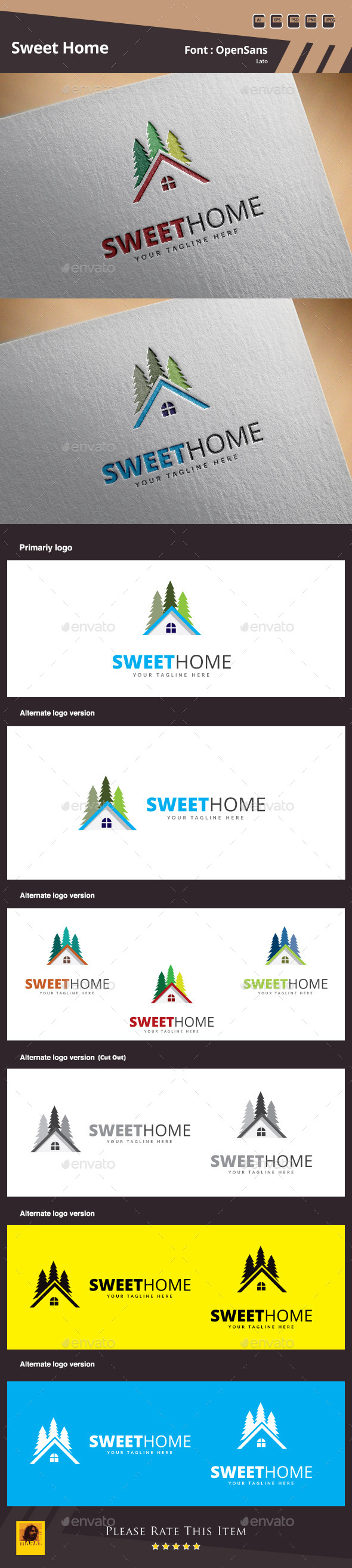 GraphicRiver Sweet Home Logo Template 10550696