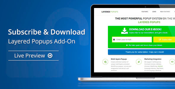 CodeCanyon Subscribe & Download Layered Popups Add-On 10550769