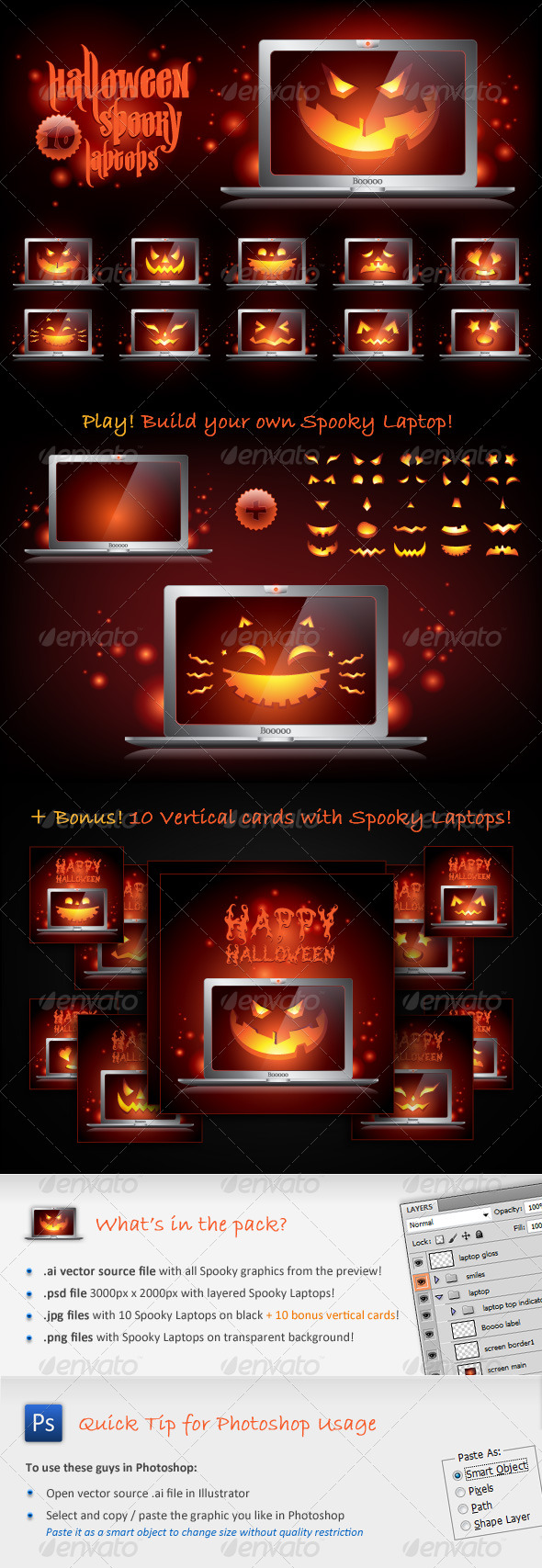 Halloween Spooky Laptops - Halloween Seasons/Holidays