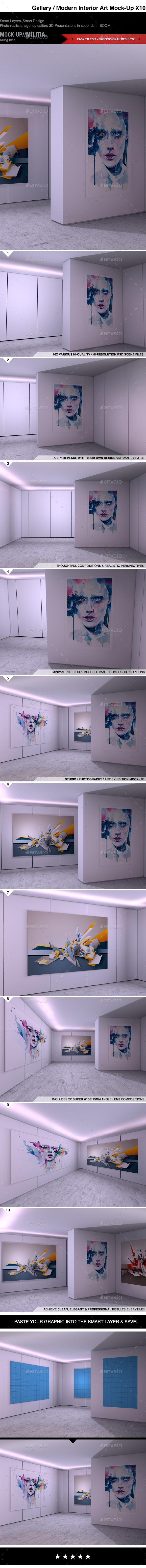GraphicRiver Modern Interior Photography Art Gallery Mock-Up 10550809