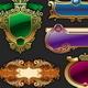 Set of Golden Luxury Framed Label