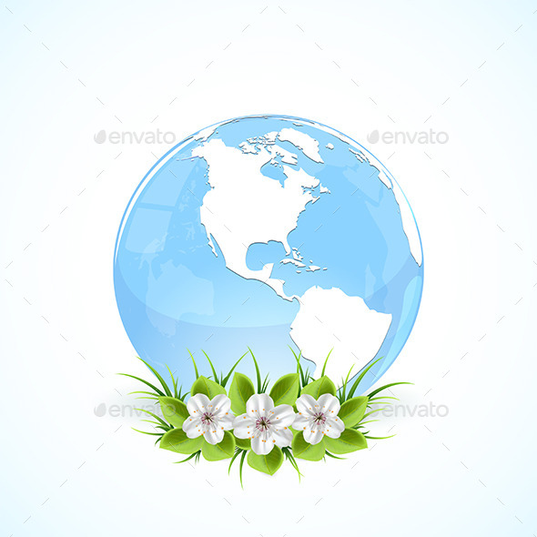 GraphicRiver Globe with Flowers 10550878