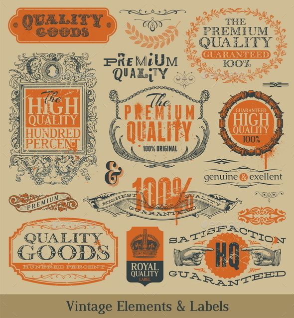 GraphicRiver Vector Vintage Emblems Signs and Labels 10550901