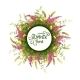 Summer Round Banner with Flowers - GraphicRiver Item for Sale
