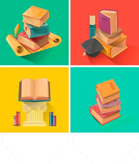 GraphicRiver Set of Books 10541502