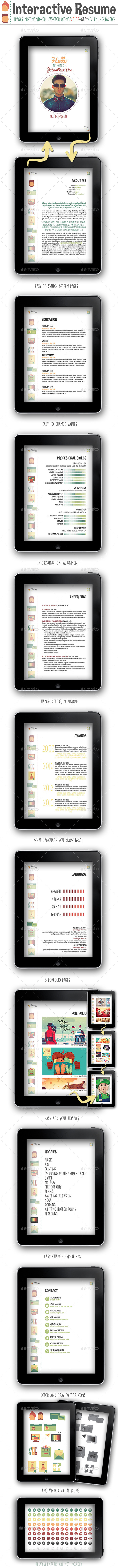 GraphicRiver Interactive Resume PDF 10550935