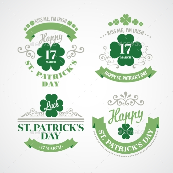 GraphicRiver Typography St Patricks Day Emblems 10550962