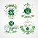 Typography St Patricks Day Emblems - GraphicRiver Item for Sale