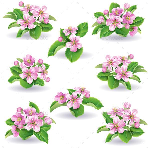 GraphicRiver Floral Set 10550968