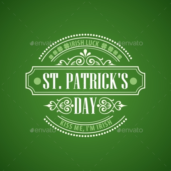 GraphicRiver Typography St Patricks Day Emblem 10550982