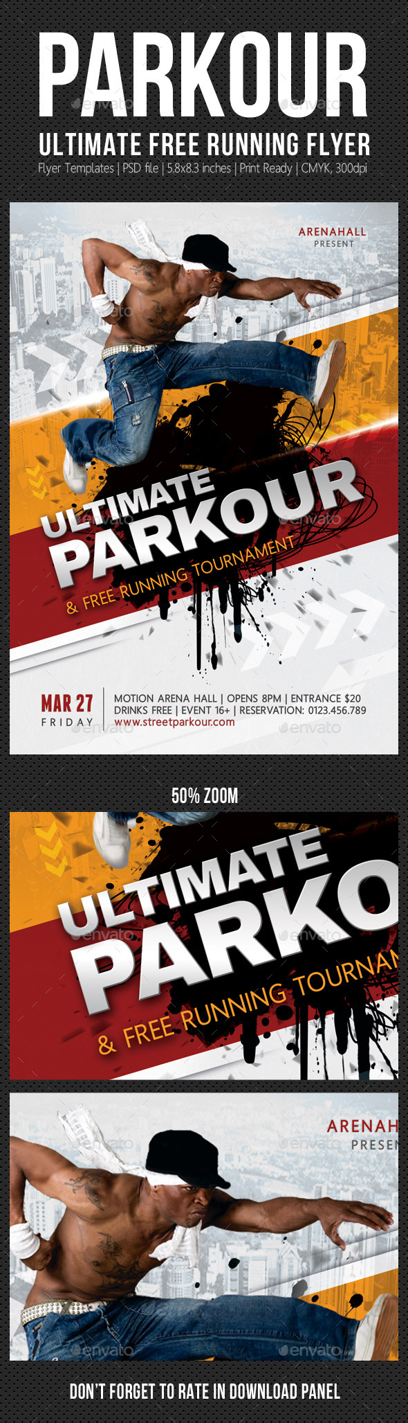 GraphicRiver Ultimate Parkour Free Running Flyer 10550983