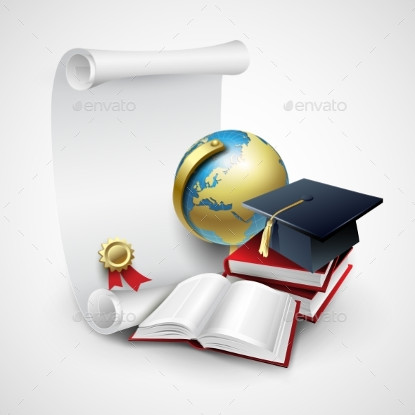 GraphicRiver Objects for Graduation Ceremony 10551032