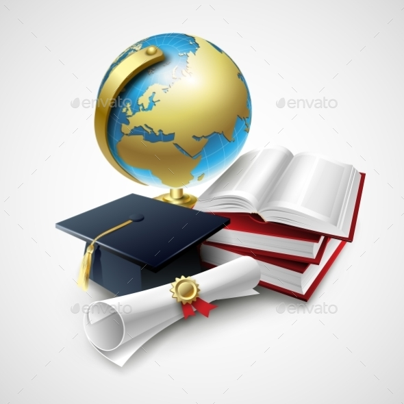 GraphicRiver Objects for Graduation Ceremony 10551033