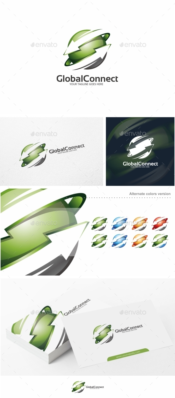 GraphicRiver Global Connect Arrow Logo Template 10551041