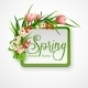 Spring Frame with Flowers - GraphicRiver Item for Sale