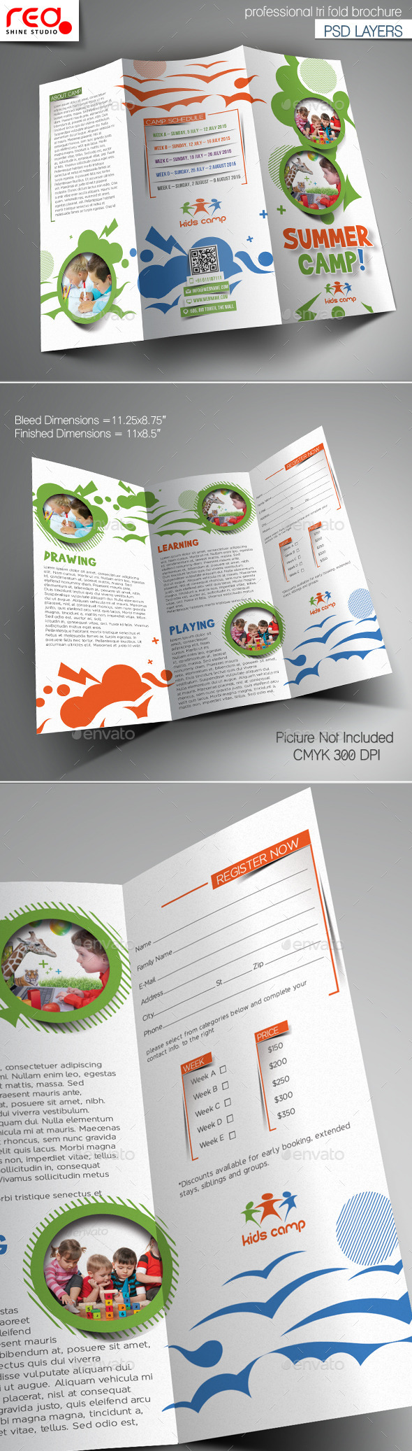 GraphicRiver Summer Camp Trifold Brochure Template 10551149