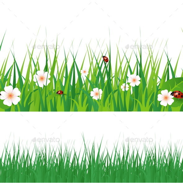 GraphicRiver Seamless Green Grass 10551850