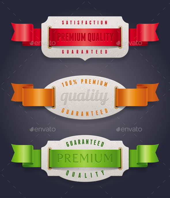 GraphicRiver Labels of Quality with Color Ribbon 10553076