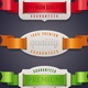 Labels of Quality with Color Ribbon - GraphicRiver Item for Sale