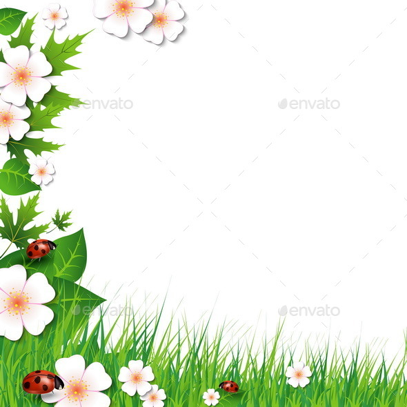 GraphicRiver Spring Background with Grass 10556192