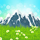 Green Landscape with Mountains - GraphicRiver Item for Sale