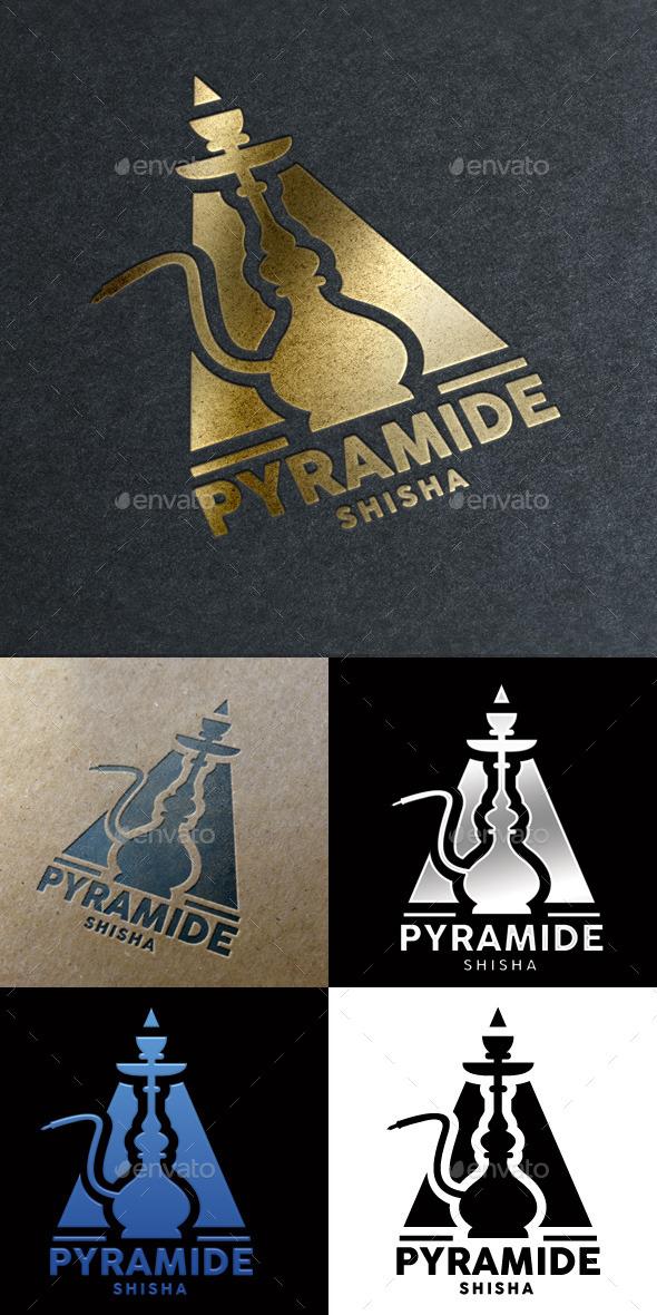 GraphicRiver Pyramide Shisha Bar Logo 10556461