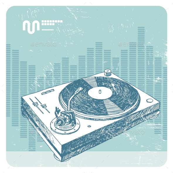 GraphicRiver Grunge Turntable 10556463