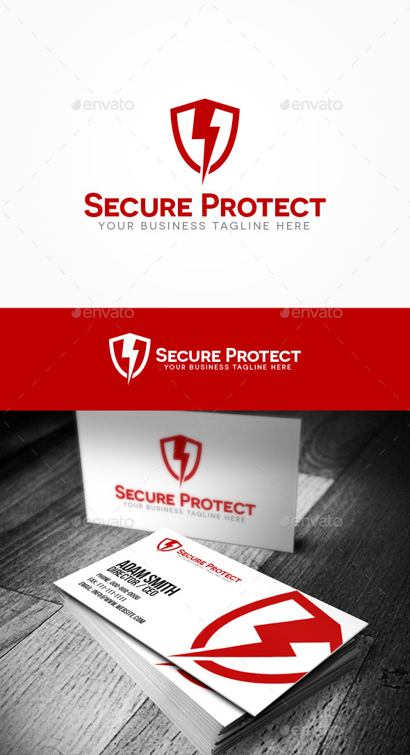 GraphicRiver Secure Protect Logo 10556473