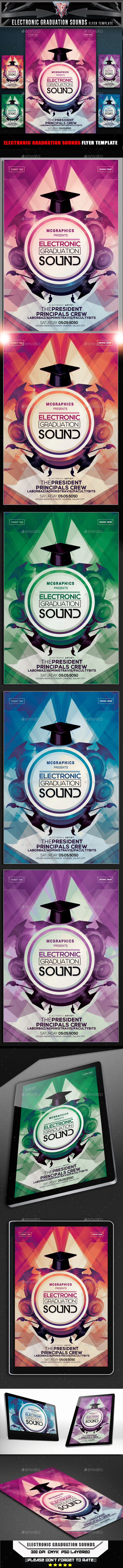 GraphicRiver Electronic Graduation Sounds Flyer Template 10556489