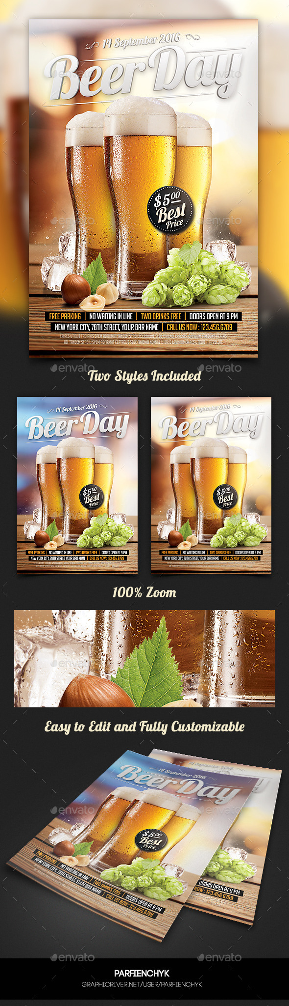 GraphicRiver Beer Day Party Flyer Template 10556633
