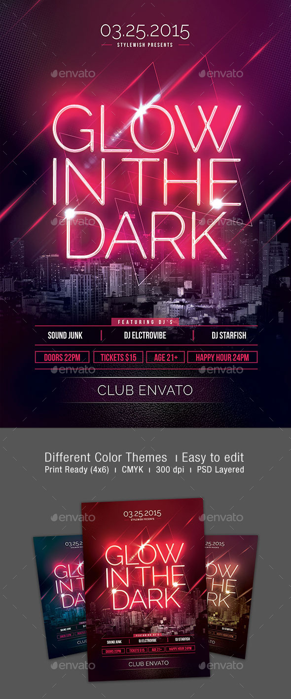 GraphicRiver Glow In The Dark Flyer 10556717
