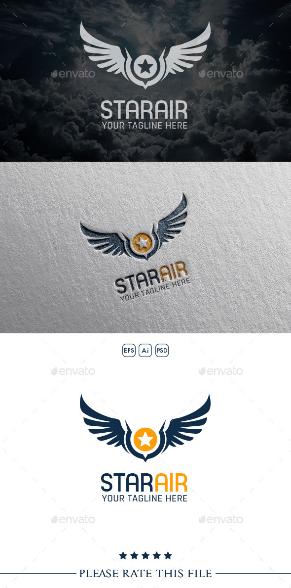 GraphicRiver Wings Airlines Logo 10556720
