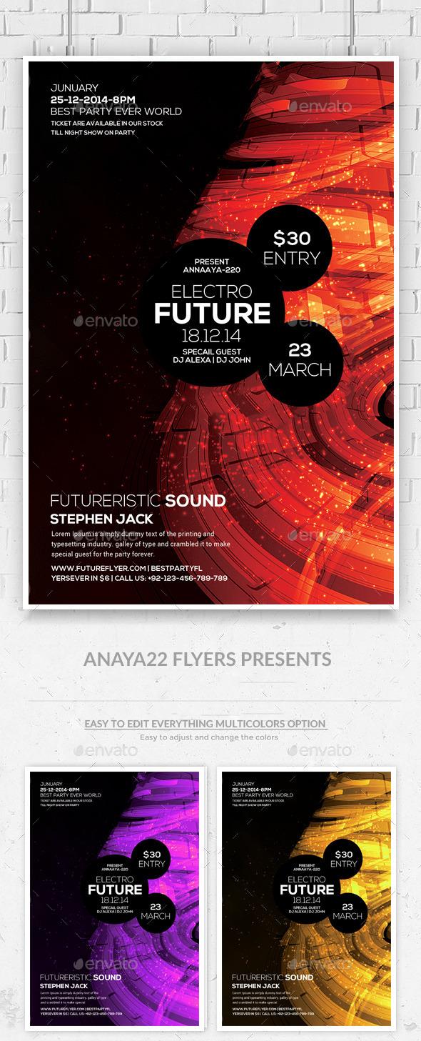 GraphicRiver Minimal Futuristic Psd Flyer Templates 10556767