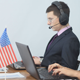 American Call Center Operators Working in Office - VideoHive Item for Sale