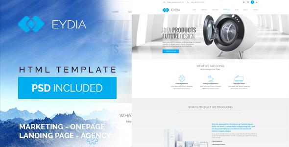 ThemeForest Eydia Marketing Bootstrap Landing Page 10556821