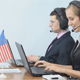 American Call Center Operators Working with Laptop - VideoHive Item for Sale