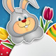 White Egg and Bunny - GraphicRiver Item for Sale
