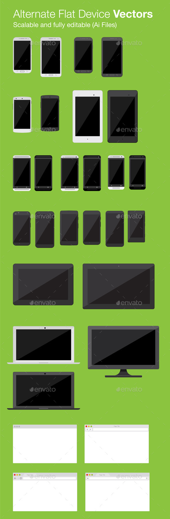 GraphicRiver Alternate Flat Device Vectors 10547864