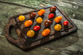 Variety of cherry tomatoes on wood - PhotoDune Item for Sale