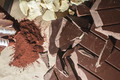 Pieces of cocoa butter and chocolate - PhotoDune Item for Sale