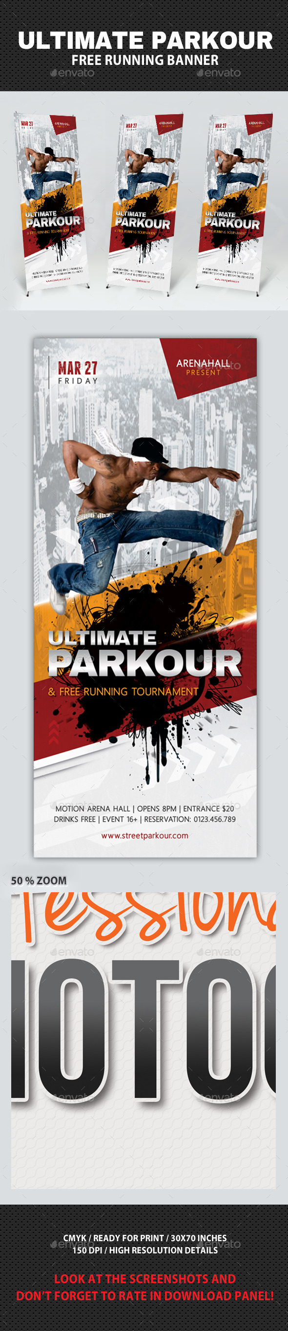 GraphicRiver Ultimate Parkour Free Running Banner 10557371