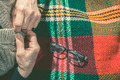 Elderly woman buttoning his vest - PhotoDune Item for Sale