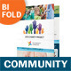 Community Service Bifold / Halffold Brochure - GraphicRiver Item for Sale