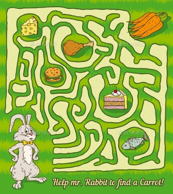 GraphicRiver Rabbit Maze Game 10557808