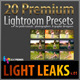 20 Premium Lightroom Presets - Light Leaks V.01 - GraphicRiver Item for Sale