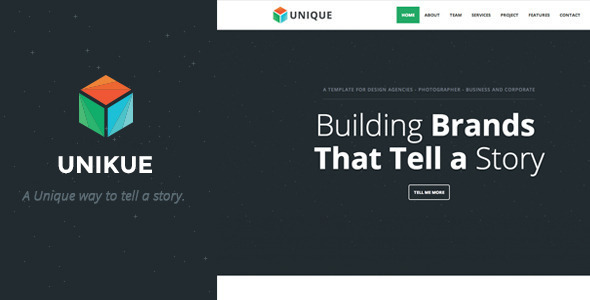 Unikue - Parallax One Page Wordpress Theme
