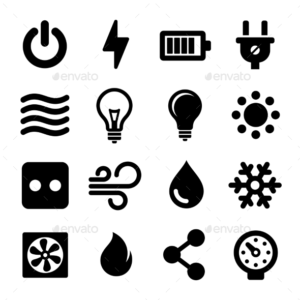 GraphicRiver Electric Icons Set 10559341