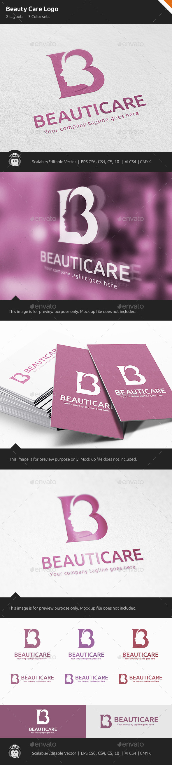 GraphicRiver Beauty Care Woman Logo 10559412