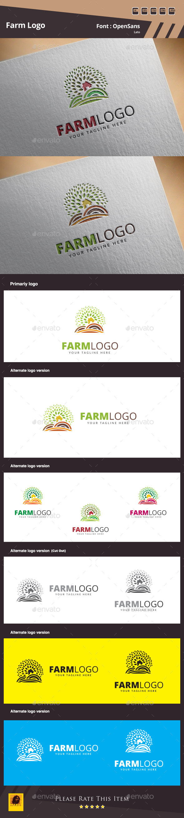 GraphicRiver Farm Logo Template 10559426