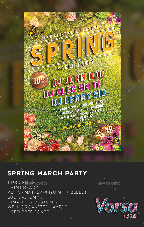 GraphicRiver Spring March Party 10559483